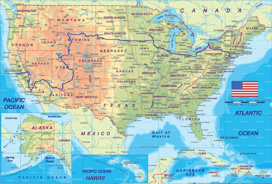 Coast to coast route