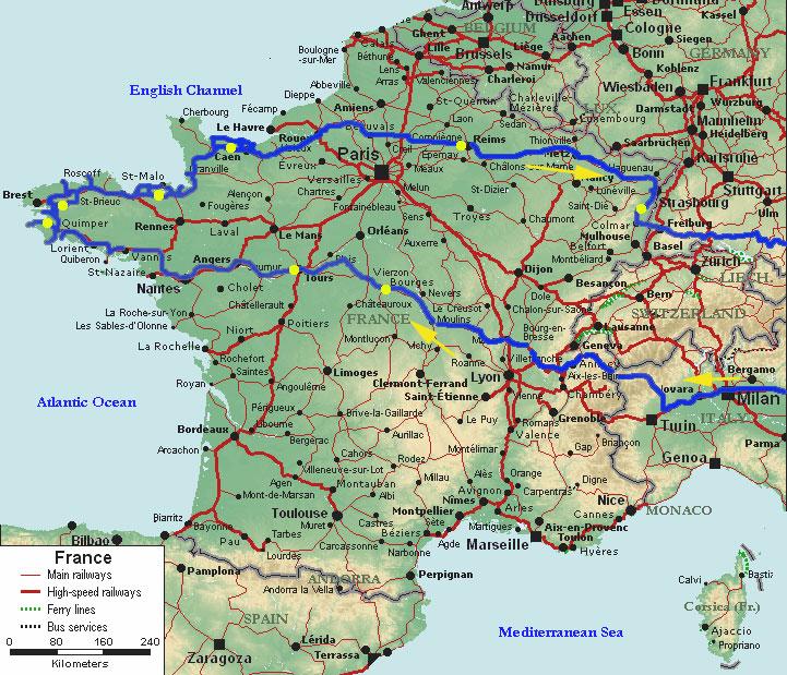 Itinerary France