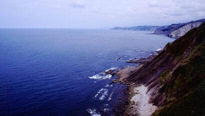 Atlantic cliff close to San Sebastian, Spain